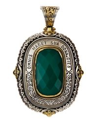 Konstantino - Sterling Silver & 18K Gold Green Onyx Rectangular Enhancer - Lyst