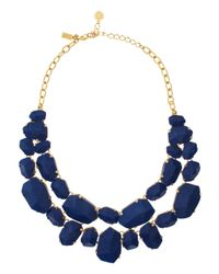 kate spade new york | Blue Quarry Gems Statement Necklace | Lyst