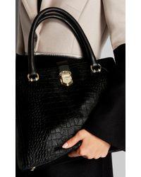 Karen Millen Black Luxe Leather Maxi Bag