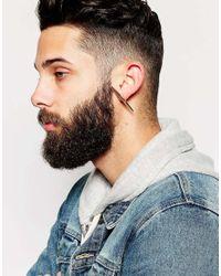 ASOS | Metallic Long Spike Stud Earring Pack In Gold for Men | Lyst
