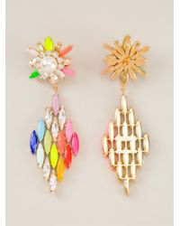 Shourouk | Multicolor 'cobra' Earrings | Lyst