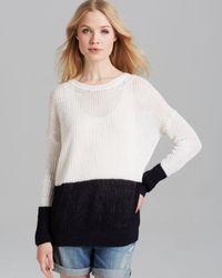 Vince Black Sweater Color Block Linen