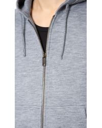 Marc Jacobs Gray Silk And Cashmere Hoodie for men