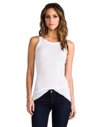 James Perse - Cashmere Rib Tank in White - Lyst