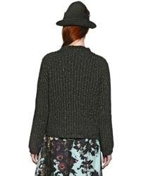 Antonio Marras Green Crystal Embellished Wool Blend Sweater