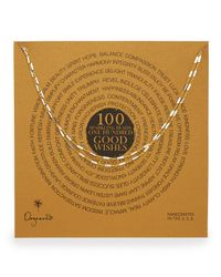 Dogeared | Metallic 100 Good Wishes Gold Vermeil Bar Necklace | Lyst