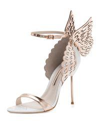 Sophia Webster - Pink Evangeline Glittered Butterfly Sandals - Lyst