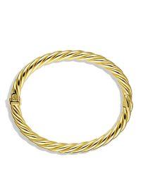 David Yurman Metallic Sculpted Cable Bracelet In Gold