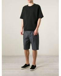 Lanvin | Gray Tailored Denim Shorts for Men | Lyst