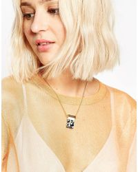 ASOS - Blue Color Pop Semi-precious Effect Necklace - Lyst