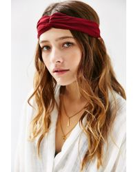 Urban Outfitters | Purple Eva Sheer Crisscross Headwrap | Lyst