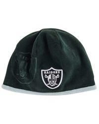 KTZ Black Oakland Raiders Tech Knit Hat for men