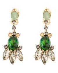 Marni | Green Embellished Clip-on Earrings | Lyst