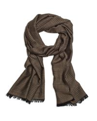 Brooks Brothers | Natural Glen Plaid Scarf for Men | Lyst