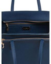 Ferragamo | Blue Medium Amy Grained Leather Tote Bag | Lyst