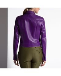 Bally Purple Blouson Jacket