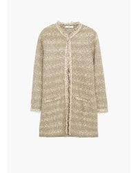Mango | Brown Frayed Edges Cardigan | Lyst