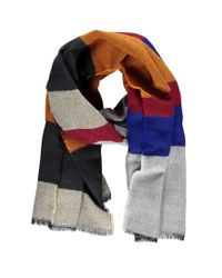 Forever 21 - Gray Frayed Stripe Scarf - Lyst