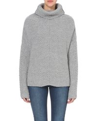 Maje | Gray Matignon Wool-blend Turtleneck Jumper | Lyst