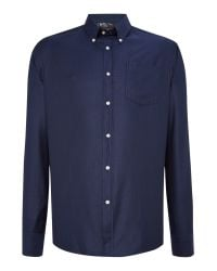 Barbour | Blue Land Rover Rugby Garet Long Sleeve Shirt for Men | Lyst