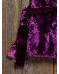 Free People - Purple Vintage Velvet Wrap Top - Lyst