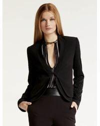 Halston - Black Embellished Crepe Jacket - Lyst