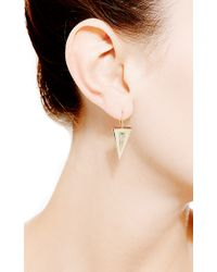 Janis Savitt | Metallic Triangle Earrings | Lyst