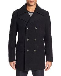 J.Lindeberg Black 'wilton Army Casentino' Wool Blend Coat for men