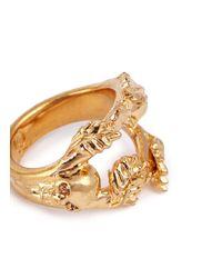 Alexander McQueen | Metallic Skull Vine Ring | Lyst