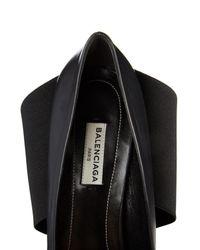 Balenciaga Black Prism Leather And Elastic-Band Pumps