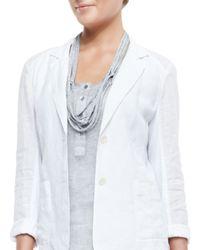 Eileen Fisher - Gray Drapey Metallic Necklace - Lyst