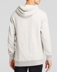Scotch & Soda Gray Funnel Neck Pullover Hoodie for men