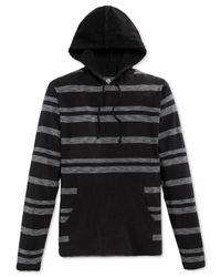 American Rag - Black Wide-stripe Hoodie for Men - Lyst