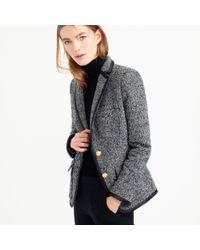 J.Crew Black Rhodes Blazer In Italian Donegal Wool