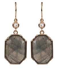 Irene Neuwirth Gray Labradorite Drop Earrings