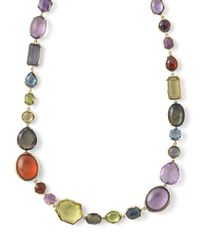 Ippolita - Gray 18k Rock Candy Sofia Fall Rainbow Necklace - Lyst