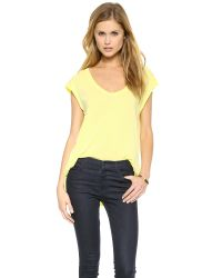 Splendid - Yellow Vintage Whisper Muscle Tee - Lemon Lime - Lyst