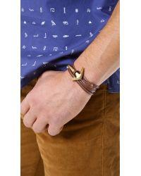 Miansai | Brown Anchor Half Cuff for Men | Lyst