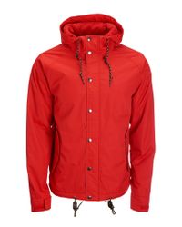 Aéropostale | Red Solid Full-zip Anorak Jacket | Lyst