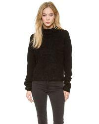 Acne Studios Black Loyal Mixed Knit Sweater - Beige