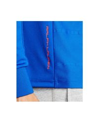 Polo Ralph Lauren Blue Polo Sport France Long-sleeved Drop-needle Jersey T-shirt for men