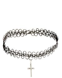 ASOS - Black Cross 90S Tattoo Choker Necklace - Lyst