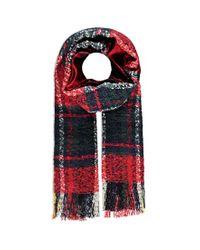 Forever 21 - Black Loop Knit Plaid Scarf - Lyst