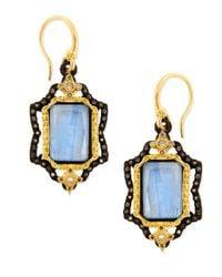 Armenta | Metallic Old World Emerald-Cut Kyanite Earrings With Diamonds | Lyst