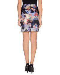 Minimum Purple Mini Skirt