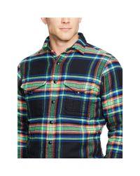 Polo Ralph Lauren - Green Plaid Cotton Shirt Jacket for Men - Lyst