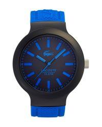 Lacoste Blue 'borneo' Silicone Strap Watch for men