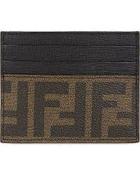 Fendi | Gray Zucca Card Holder | Lyst