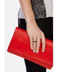 Karen Millen | Metallic Double Bar Skinny Ring | Lyst