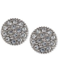 Judith Jack | Metallic Sterling Silver Swarovski Stud Earrings | Lyst